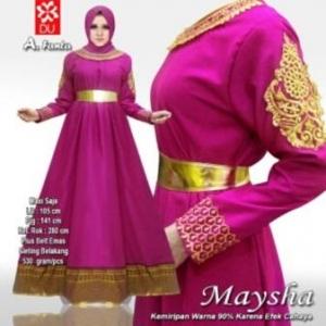 Busana Muslim Wanita Untuk Pesta Maysha Warna Fanta Bahan Balotelifes