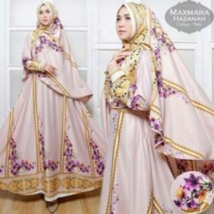 Baju Gamis Terbaru Dan Mewah Hazanah Syar'i-3 Bahan maxmara