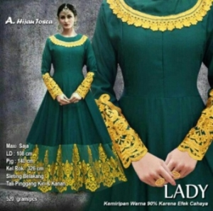 Baju Pesta Muslim Lady Warna Hijau Tosca Bahan Balotelifes