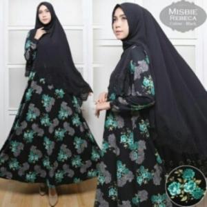 Busana Muslim Wanita Rebeca Syar'i-2 Bahan Misbie