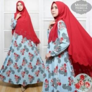 Busana Muslim Wanita Rebeca Syar'i-5 Bahan Misbie