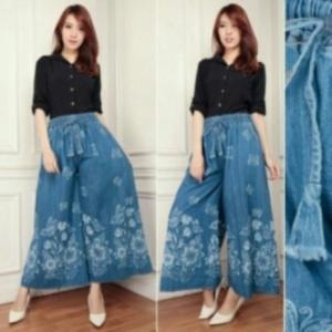 Jual Celana Kulot Muslim Bahan Jeans Dinda Termurah