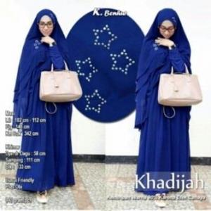 Baju Gamis Pesta Syar'i Khadijah Syar'i WArna Benhur Kombinasi Bahan Spandex dan Ceruty