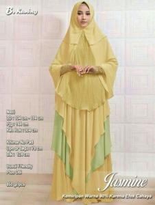 Agen Busana Muslim Untuk Pesta Jasmine Syar'i Warna Kuning Bahan Spandex
