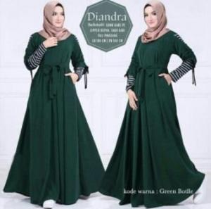 Agen Gamis Modern Diandra Warna Dark Green Bahan Balotelli