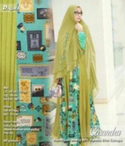 Baju Gamis Murah Dan CAntik Casandra Syar'i Warna Gold Bahan Spandek Kombinasi