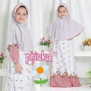 Baju Muslim Anak Perempuan Cantik Dan Lucu Prika Kids_1 Bahan Maxmara