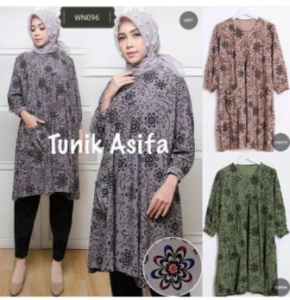 Distributor Baju Atasan Wanita Muslim Tunik Asifa Ukuran Besar