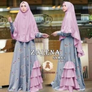Distributor Baju Muslim Terbaru 2017-2018 Zalena Syar'i Bahan Balotelli