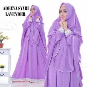 Gaun Pesta Muslimah Elegan Adeeva Syar'i Warna Lavender Bahan Misbie