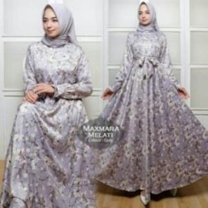 Jual Grosir BusanaMuslim Terbaru Melati Dress-1 Bahan Maxmara