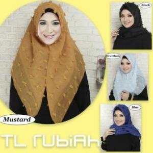 Jual Jilbab Segiempat Modern Rubby Square-1 Bahan Rubiah