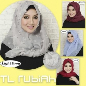 Jual Jilbab Segiempat Modern Rubby Square-3 Bahan Rubiah