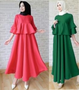 Online Shop Baju Hijabers Remaja Princess Dress -2 Bahan Balotelli