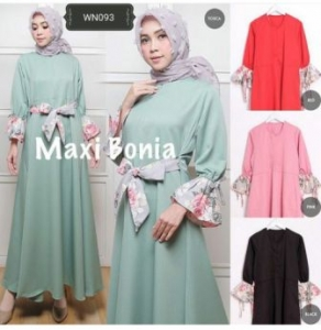 Online Shop Baju Hijjabers Modern Bonia Dress Bahan Balotelli
