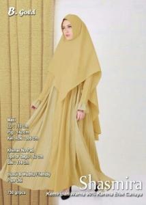 Supplier Gamis Muslimah Terbaru Shasmira Syar'i Warna Gold Bahan Balotelifes