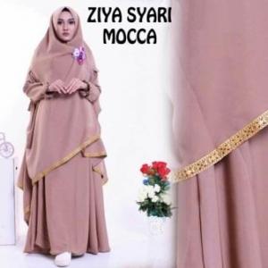Baju Gamis Ziya Syar'i Cantik Dan Murah Warna Mocca Bahan Misby