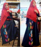 Baju Muslim Masa Kini Malvia Syar'i