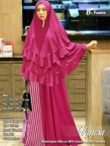 Baju Muslim Vanesa Syar'i Bahan Spandex Warna Fanta