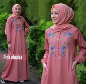 Online Shop Baju Hijabers Modern Misha Dress Busui Warna Rosy Pink Bahan Balotelli