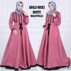 Online Shop Baju Hijabers Modern Murah Adila Bahan Warna Dusty Bahan Balotelli
