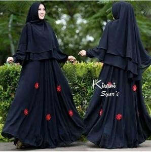 Jual Online Baju Gamis Pesta Kirani Syar'i Warna Black
