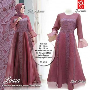 Supplier Baju Pesta Muslim Cantik Laura Maxi