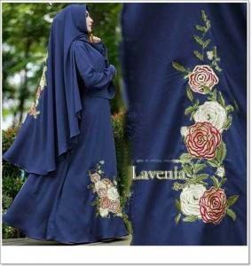 Gamis Muslimah Terbaru Lavenia Syar'i dengan Bahan Wollpeah