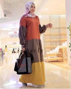 Jual Baju Gamis Katun Kimberly Maxi Bahan Ima Platinum