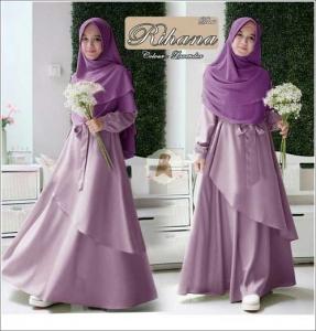 Jual Online Baju Muslim Wanita Ukuran Besar Rihana Syar'i Bahan Maxmara Moisture