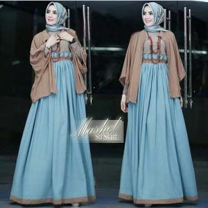 Online Shop Baju Hijabers Modern Mashel Set Bahan Balotelli