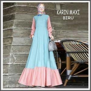 Online Shop Baju Hijabers Remaja Cantik Karin Maxi Bahan Balotelli