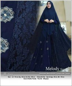 Supplier Baju Gamis Pesta Melody-Syar'i Bahan Ceruti