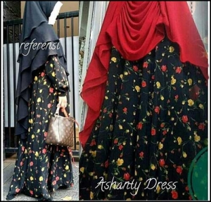 Supplier Baju Gamis Terbaru Ashanty