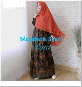 Gamis Batik Cantik Elegan Megabatik-Syar'i_3