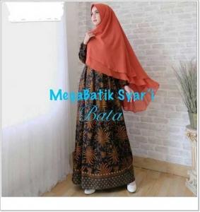 Gamis Batik Cantik Elegan Megabatik-Syar'i_4