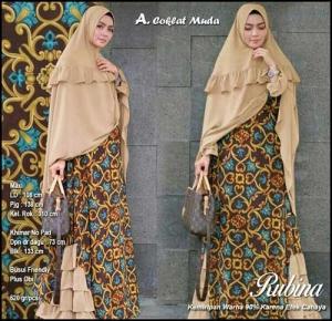 Supplier Baju Gamis Batik Cantik Rubina Syar'i Bahan Monalisa