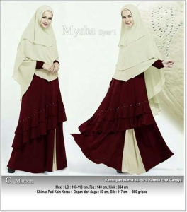Supplier Baju Gamis Pesta Polos Mysha Syar'i Bahan Spandex