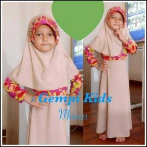 Baju Gamis Anak Perempuan Terrbaru Gempi Kids Bahan Jersey
