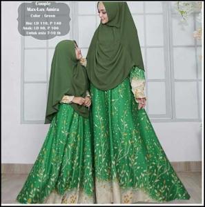 Baju Muslim Couple Ibu Dan Anak Amira Bahan Maxmara