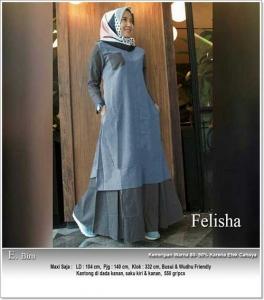 Jual Busana Muslim Modern Felisha Maxi Bahan Oxford