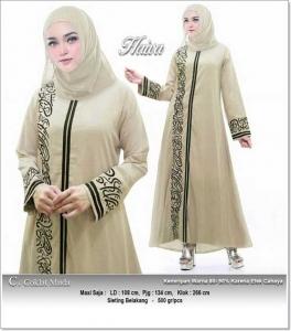 Jual Online Baju Gamis Katun Haiva Dress Bahan Linen