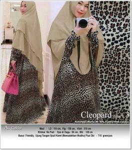 Jual Online Baju gamis Terbaru 2018 Motif Macan Tutul Cleopard Syar'i BahanSoft Skin