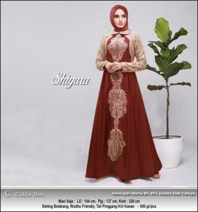Supplier Baju Gamis Pesta Terbaru Shigara Dress Bahan Baloteli