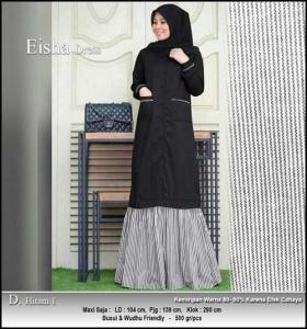 Supplier Gamis Modern Eisha Dress Bahan Toyobo