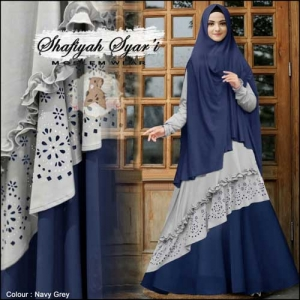 Supplier Gamis Shafiyah Syar'i Murah Bahan Maxmara Lotus