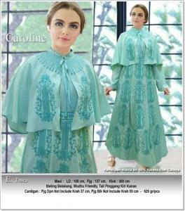 Supplier busana Muslim Modern Caroline Dress Bahan Balotelli