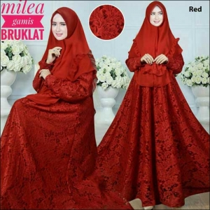 Supplier Baju Gais Pesta Milea Syar'i Bahan Brokat
