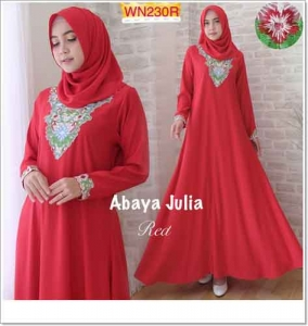 Agen Busana Muslim Modern Abaya Julia Bahan Crepe