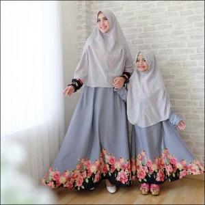 Baju Muslim Sharifa Couple Ibu Dan Anak Bahan Balodior